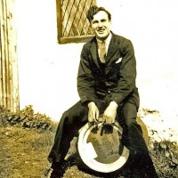 William MacGregor, Rosemary's father, pictured in 1939 outside the Foyers Hotel. William worked here as a barman.