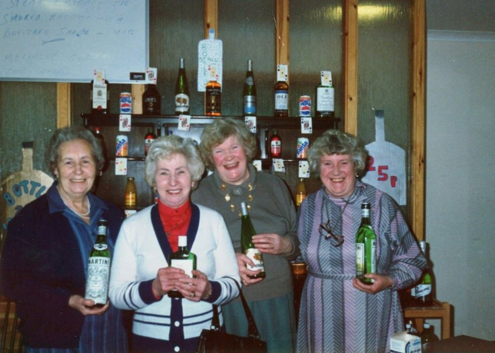 Fund raising event    at Telford Centre , Fort Augustus . L-R Sadie Hipkins, Ina Murray, Kitty Fraser and Sadie Chisholm . Photo courtesy of John Murray.