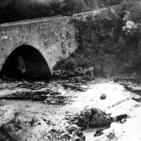 The Wade Bridge at Inverfarigaig 1935 .    Photograph courtesy of Roger Creegan