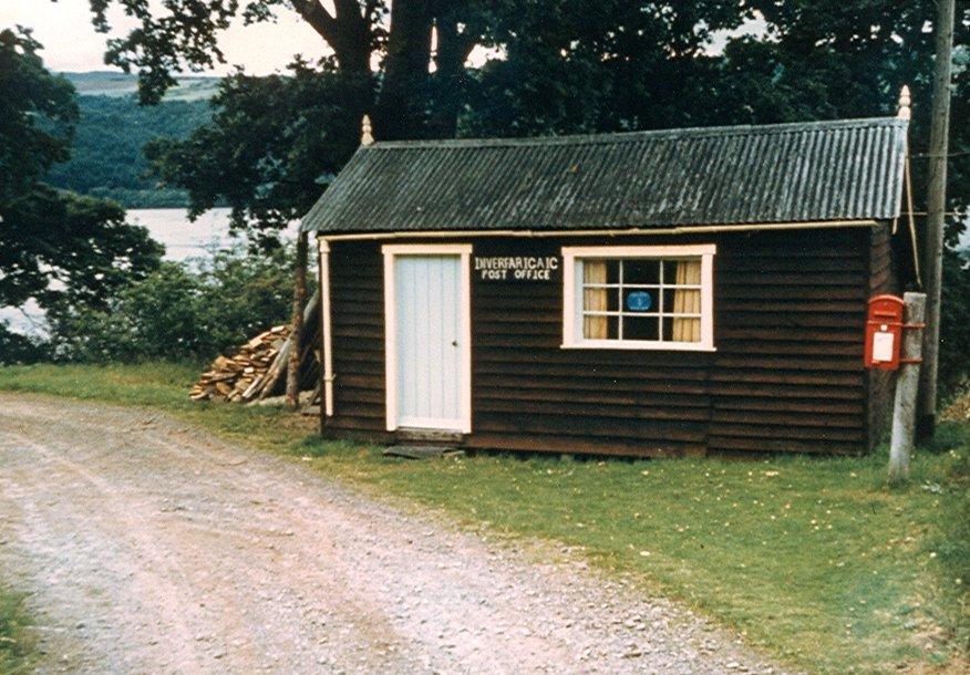 Inverfariag Post Office  1966 .  Photograph courtesy of Roger Creegan