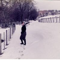 Rose battling through snow at Farraline