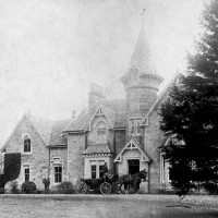 Wester Aberhalder Mansion House 1895   The house burnt down around the late fifties and the remaining walls are used for a sheep fank . Photograph courtesy of Ewen Fraser.