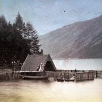 Aldourie Boathouse c1890  Photograph courtesy of Iain Cameron.