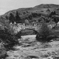 Torness Bridge demolished in the early seventies when the road was made dual carriageway  .  Photograph courtesy of Grace Macgillivray