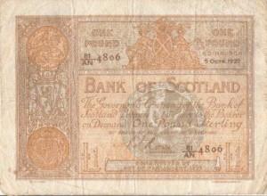 1922 pound note