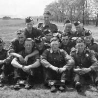 Foyers Territorials   c1937  Back L-R   Jack Maclaren ,       .  Middle 2 L-R   Murdo Stewart, George Pauline, Duncan Maclean (Tufa) , Archie Macgillivray.    Middle 1 L-R    Robert Dunbar(Dumby) , Hugh Grey, Willie Batchen, Willie Mackay  .   Front L-R   Angus Maclaren (Gabbie), Jim Stewart,   3 Unknown, 4  Alf Macmillian .    The group was taken at a Camerion Highlanders teritorial camp around about 1937 . Two of the group Robert Dumbar and Jim Stewart were killed in World War 2.  Photograph courtesy of Ala Macgruer