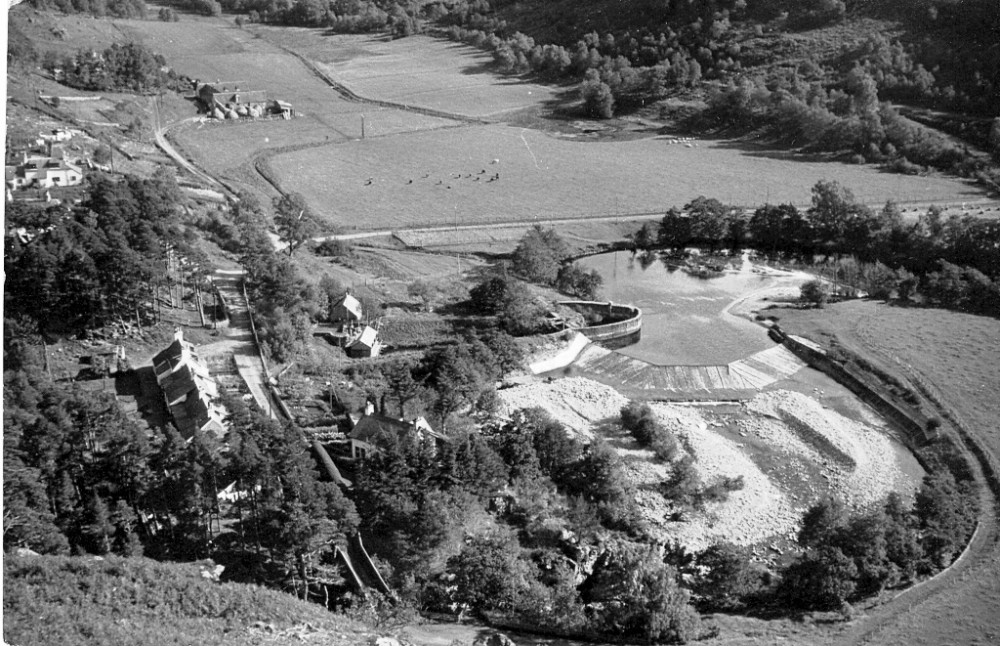 Glenlia arial  view taken about the fifties.   Photograph courtesy of Duncan Cameron