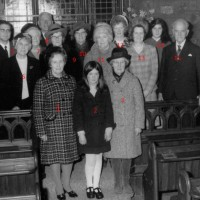 Foyers Church Group c1970 :-  1  Mrs Sadie Hipkins, 2   , 3 Emma Macleod (Kill's wife), 4 Rev John Macewen , 5   , 6  Mrs Gibson (shop), 7    , 8 Willie Macleod (Kill), 9  Anne Mackenzie,  10      , 11 Mrs Evans, 12 Katie Cameron , 13 Lorna Fraser,  14   , 15 James Bennet,  16 Mr Ronnie Macdonald . Photo courtesy of Ronnie Macdonald