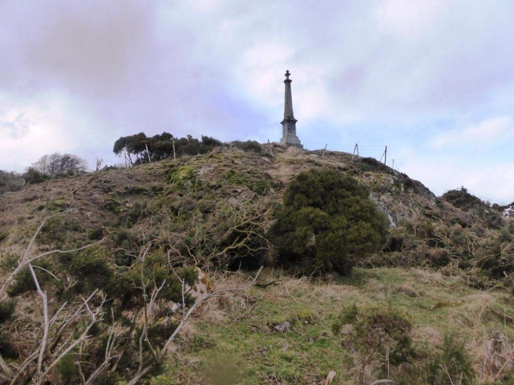 14 March Gorse now cut at rear of outcrop.   Photograph courtesy of Alister Chisholm