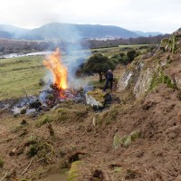4 April Burning the gorse. Photograph courtesy of Alister Chisholm