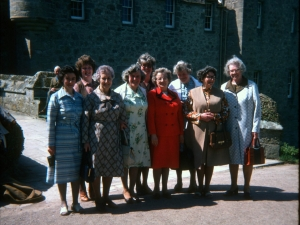 Stratherrick Slimmers Group outing to Cawder Castle 1985.