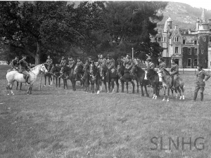 The Lovat Scouts at Aldourie Castle .