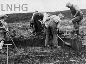 Balnabeeran Peat Cutting   c1935.
