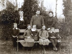 MacGillivray family in garden c1911: