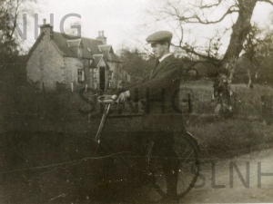 Willie Rose outside his old family home (presently Woodside)