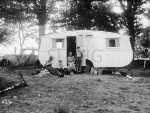 Ross family holiday caravan