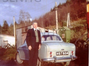 Ken with car  at rear of Foyers shop.