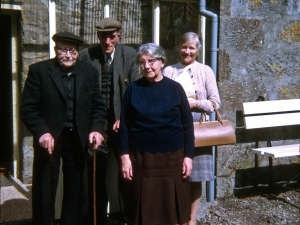 Group at Old Free Church Manse Errogie,