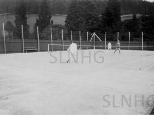 Foyers Tennis Court c1950.