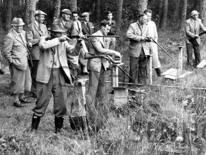 Stratherrick Gun Club  shoot at Lyne of Gorthleck  in 1959.