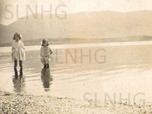 Maisie & Ella Macmillian  paddling in Lochmhor .