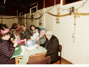 Senior Citizens Xmas Dinner Stratherrick Hall 1991.