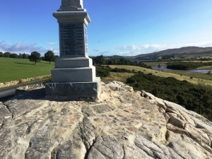 2018 Top of the outcrop of rock and base of War Memorial,