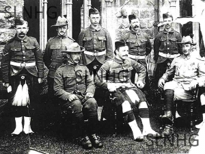 Part of the first contingent of the Scouts at Fort Augustus.
